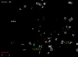 Screen shot from Galaxy Run